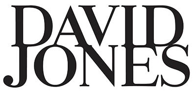 David Jones Logo BLACK STACKED